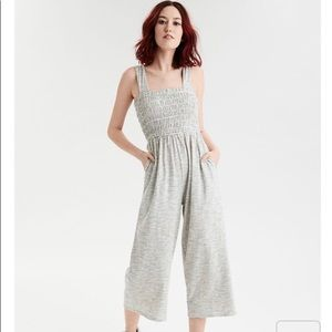 American Eagle striped knit jumpsuit